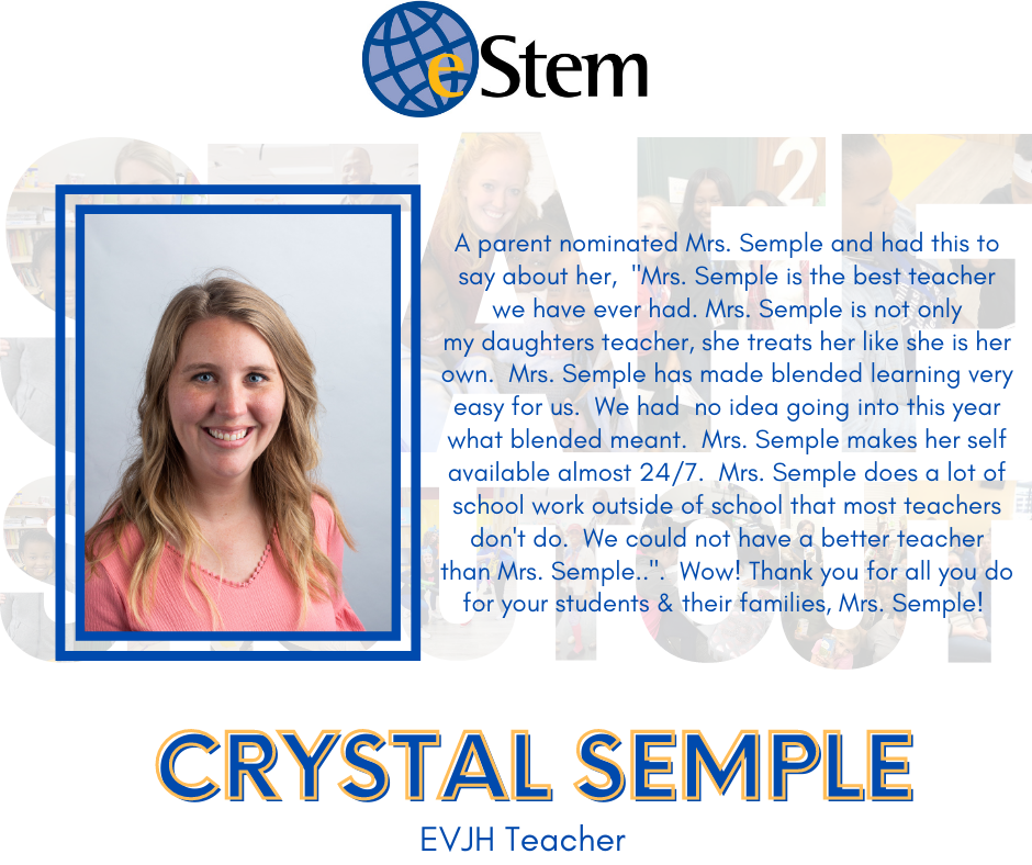 Staff Shoutout - Mrs. Semple!