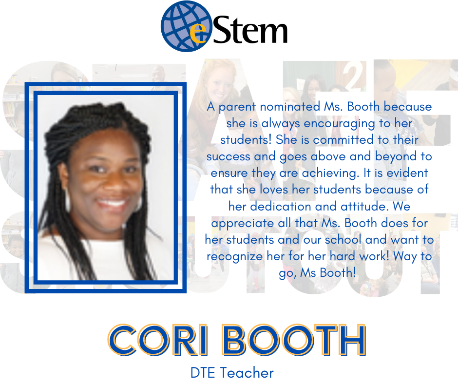 Staff Shoutout - Ms. Booth!