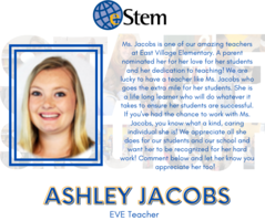 Staff Shoutout - Ms. Jacobs!