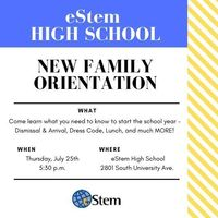 High School New Family Orientation