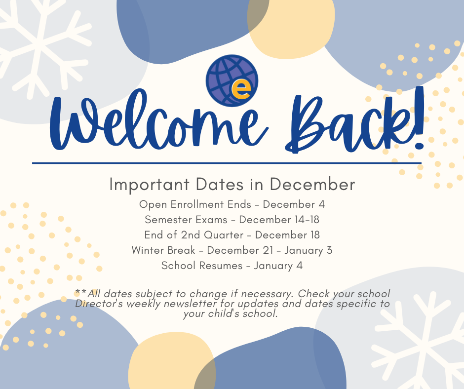 Welcome Back - December