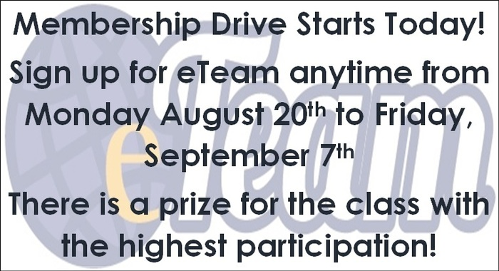 eTeam Membership Drive