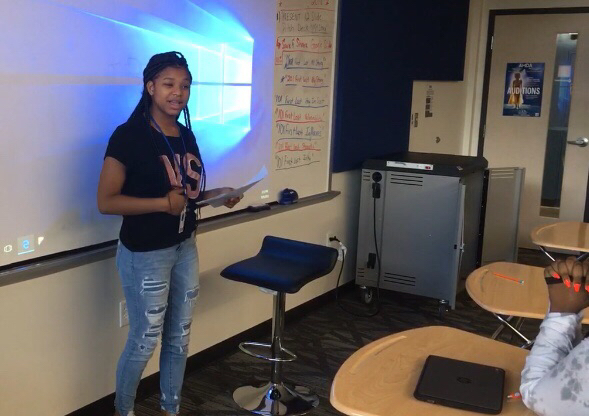 Janiya Stephenson presents her Poem for Her Health class
