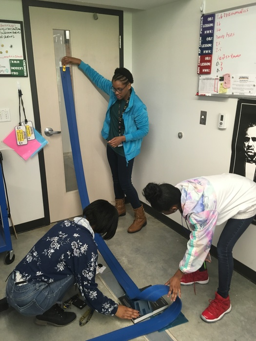 @eStemHighPCS   eStem's advanced Chemistry students determine the amount of Potential Energy that is converted to Kinetic Energy using Blue Track Racers.