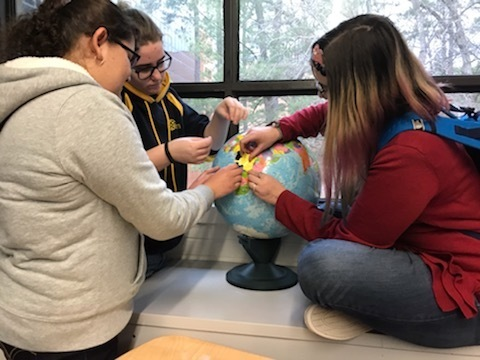 Soledad, Rory, and Winema with the puzzle globe!