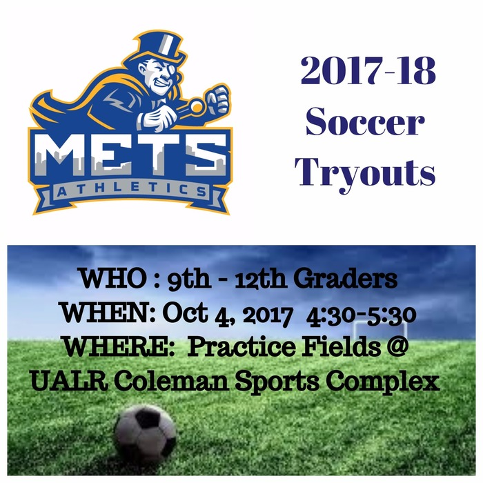 Soccer tryouts next week!