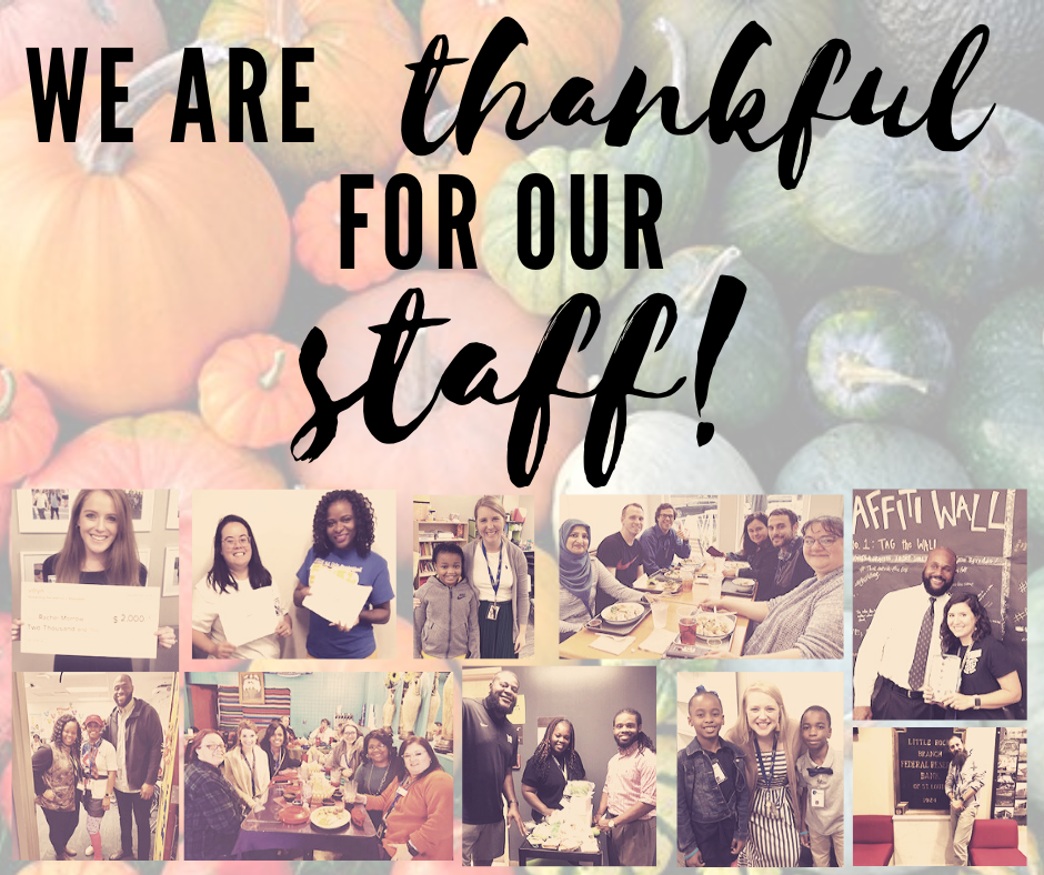Thankful for staff!