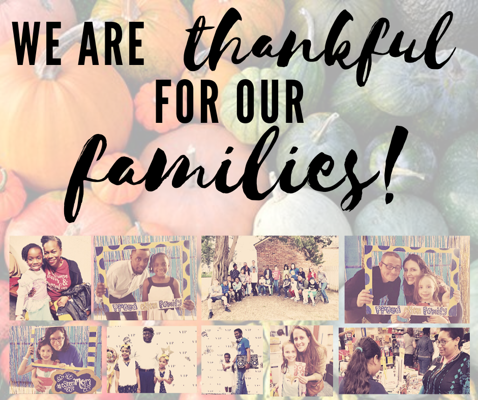 Thankful for families!
