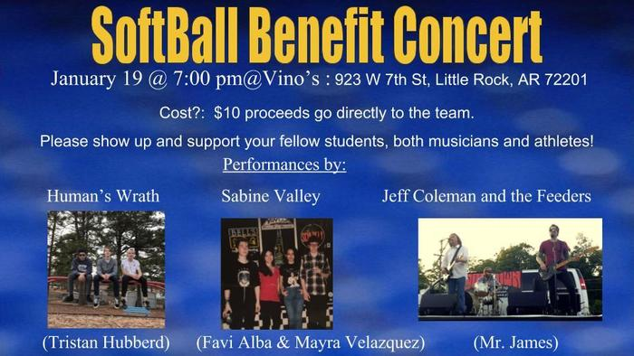 Softball benefit concert