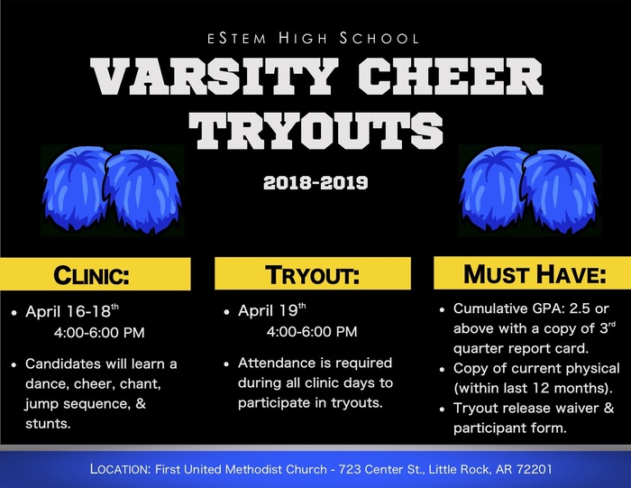 Varsity Cheer Tryouts
